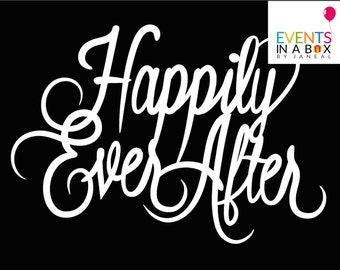 Instant Download Printable/ Happily Ever After/Two Files/ Variety of Color Choices!