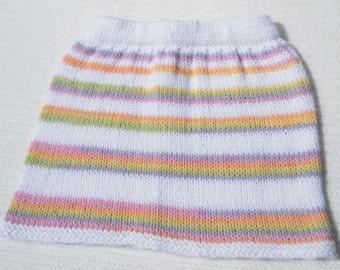 Hand Knit Wool Skirt, Knit Skirt, Childrens clothing, Handmade Knit Skirt, Wool Knit skirt, Baby Skirt, Baby Shower Gift, Infant Clothing,
