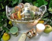 Votive Candle Gift Basket-Fruit