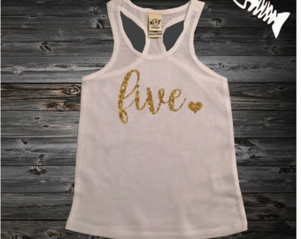 5 Year old birthday shirt Girl Five year old birthday outfit racerback tank shirt 5th birthday