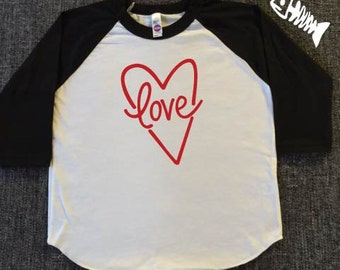 Toddler Boy, raglan, baseball tee, toddler girl, trendy boy, tshirts, Valentines day, love, lovers, wife