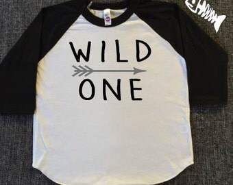 Toddler Boy, raglan, baseball tee, toddler girl, trendy boy, tshirts wild one