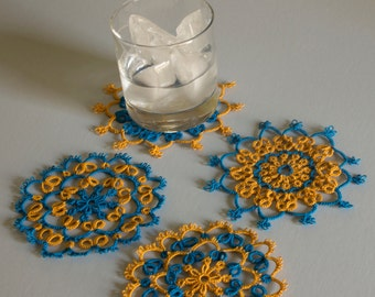 Set of tatted coasters