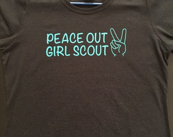 Peace Out, Girl Scout T-Shirt