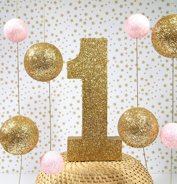 I Am One Birthday Decoration Birthday Decor Pink And Gold