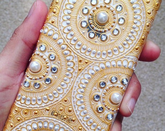 Henna inspired intricate phone case