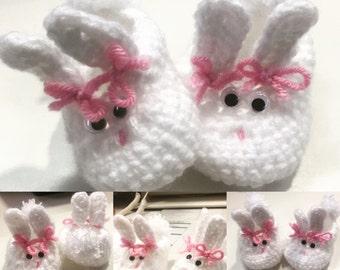 Bunny slippers handmade