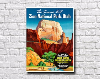 Zion National Park Poster - #0176