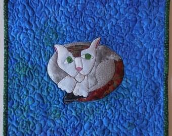 Cat Art Quilt