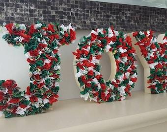 JOY Christmas Decoration~Joy Shelf Sitter~Christmas Shelf Sitter~Festive Decoration~Freestanding Letters~Christmas Mantle Piece Decoration