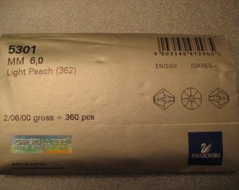 Swarovski Bicone 6mm Light Peach(362) Factory Package 360 pcs