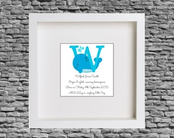 Framed Baby / Child Name Meaning Print