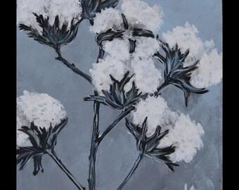 "Cotton Original art on canvas 11""x14"""