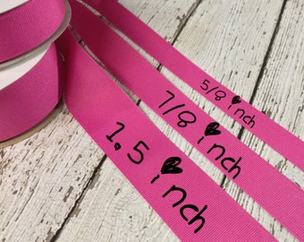Raspberry Pink Grosgrain Ribbon, 3 sizes available