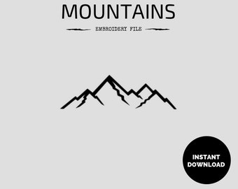 Mountains Embroidery File