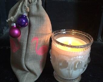 Aromatherapy Soy Candle - Rosemary and Bergamot