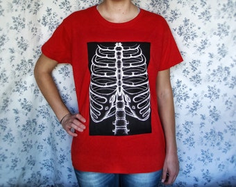 LIMITED ADDITION Skeleton Ribcage Red Women's T-shirt