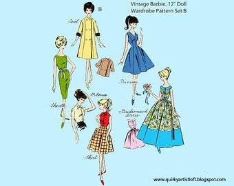 Pattern: Vintage Barbie Doll Wardrobe, Set B