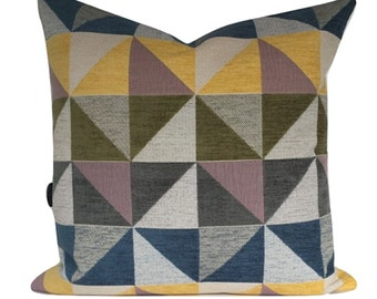 """Retro 20"""" x 20"""" Cushion Cover Modern Abstract Throw Pillow, Accent Pillow  Cover"""