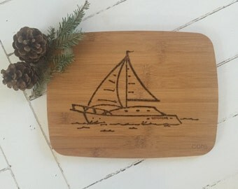 Personalized cutting board or cheese board