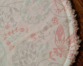 Pink Floral Burp Cloth