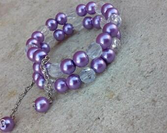 Lavender Wrap Bracelet