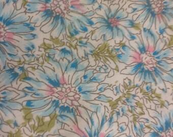 AP&Q Blue Floral Fabric 260 x 300cm