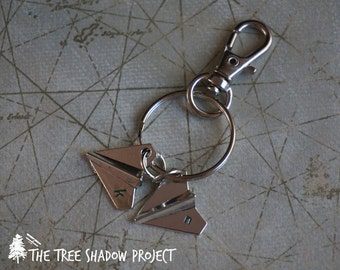 LOVE NOTES - Paper Airplane Key Chain