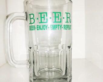 BEER mugs, Personalized Barware, Dad Birthday Gift, Beer Glasses, Funny Beer Glasses