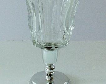 Votive Candle Holder of Metal and Glass