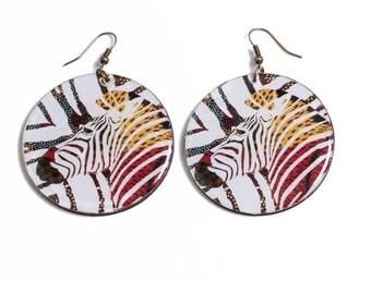 Earrings Zebra - Shamanic trend