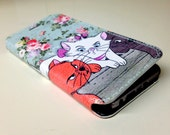 Aristocats Floral Pattern Cute for iPhones and Samsung Galaxy Full Wrap Print Leather Cover F018