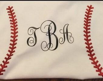 Baseball stitches monogram tshirt