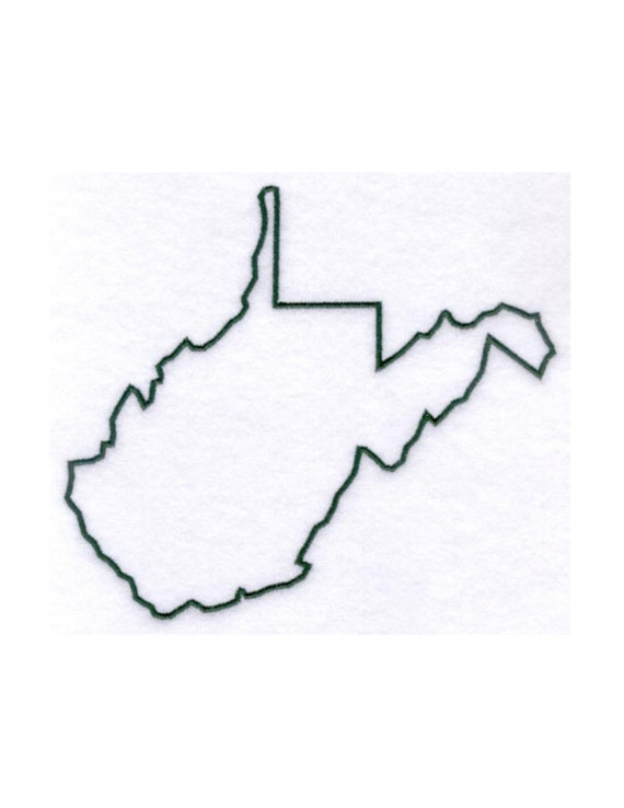 West Virginia Stencil Made From 4 Ply Mat By
