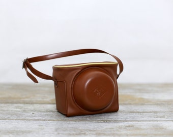 Vintage photography camera protective leather case - Vintage camera case, camera protective pouch