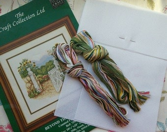 The Craft Collection Ltd, Counted Cross Stitch Kit, Beyond the Garden Gate.