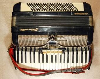 Accordion Firotti Elegance Piano Accordion 120 Bass Button German Acordeon Vintage Musical Instrument Accordeon Accordian + Case