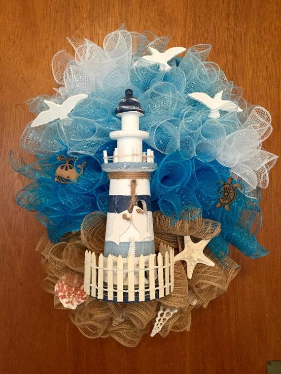 Do It Yourself Home Design: Lighthouse Wreath Beach Wreath Lighthouse By