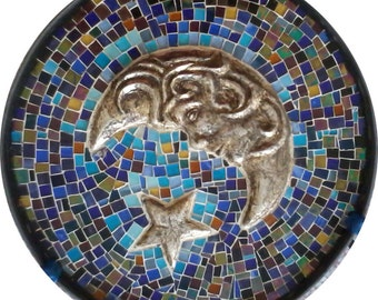 """Luna"" mosaic coffee table"