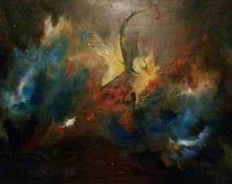 "Original Abstract painting. ""Through the soul"""