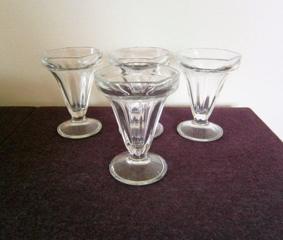 tulip glasses large ice cream sundae vintage 5 inch footed. Black Bedroom Furniture Sets. Home Design Ideas