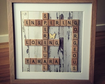 Scrabble frame - Mother of the Bride gift, Mother of the Groom gift