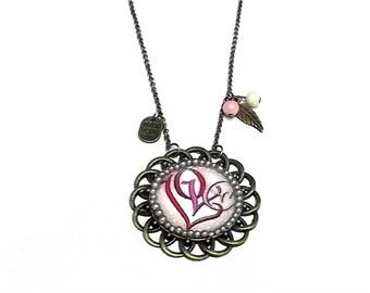 "collar necklace ""love"""