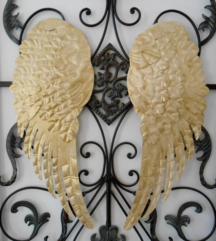 Metal Angel Wings / Home Decor / Christmas Angel Wings / Gold