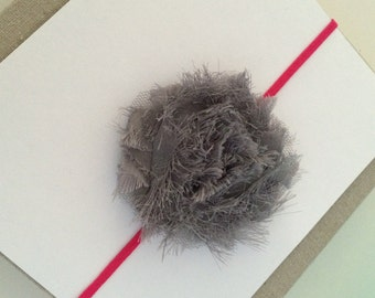 Gray flower headband