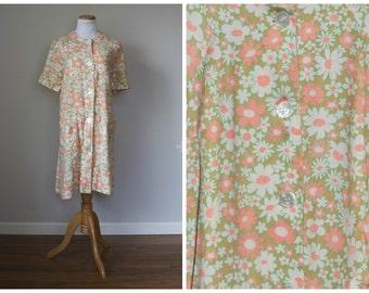 Handmade Groovy Flower Button Up Dress