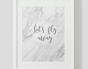 Lets Fly Away Wall Print