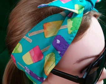 Headband hair wraptie bandana popsicle motif