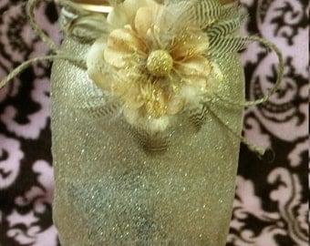 Captured fairy whimsical luminary jar