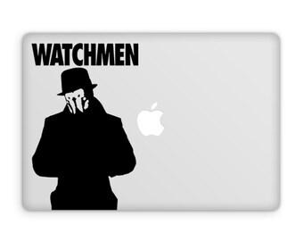 Watchmen Rorschach Decal, DC Comics, Nerd Gifts, Silk Spectre, Vinyl Wall Decals